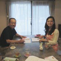 歯と健康フォーラム講師の浅井まみこさんと打ち合わせ/フォーラム実行委員会